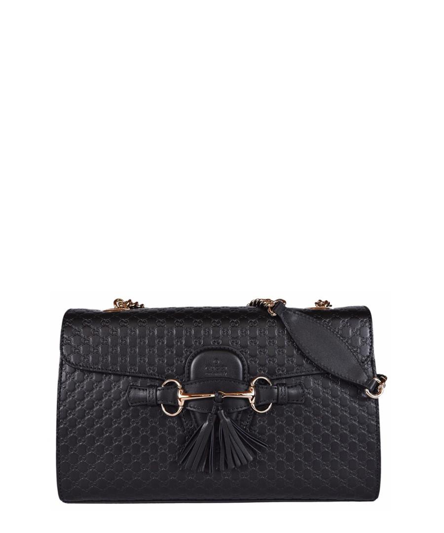 Guccissima Emily black leather crossbody Sale - gucci