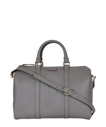 Guccissima grey leather grab bag