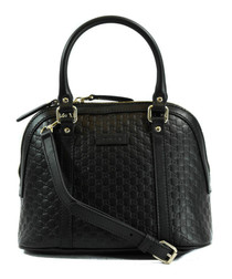 Guccissima black leather grab bag
