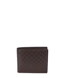 Guccissima brown leather emboss wallet