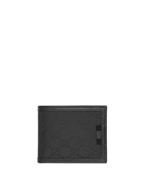 Black canvas monogram wallet