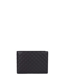 Guccissima black leather emboss wallet