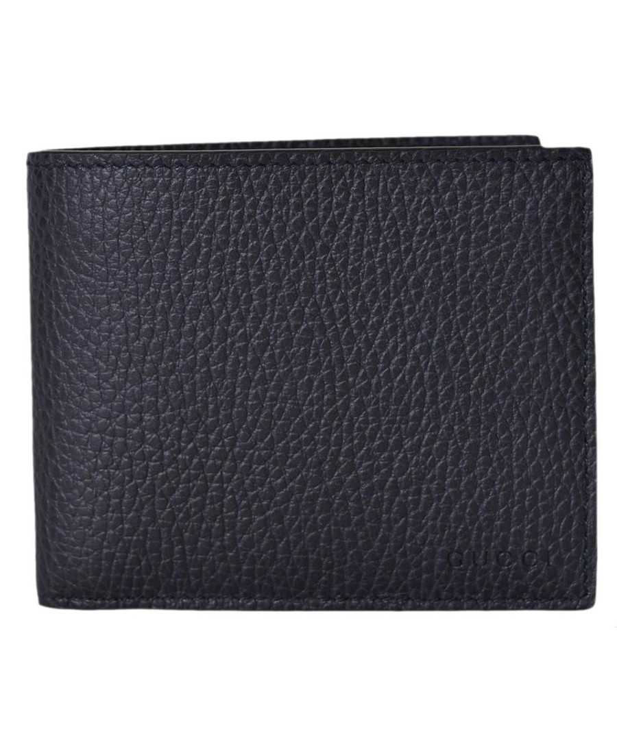 Blue leather embossed wallet Sale - gucci