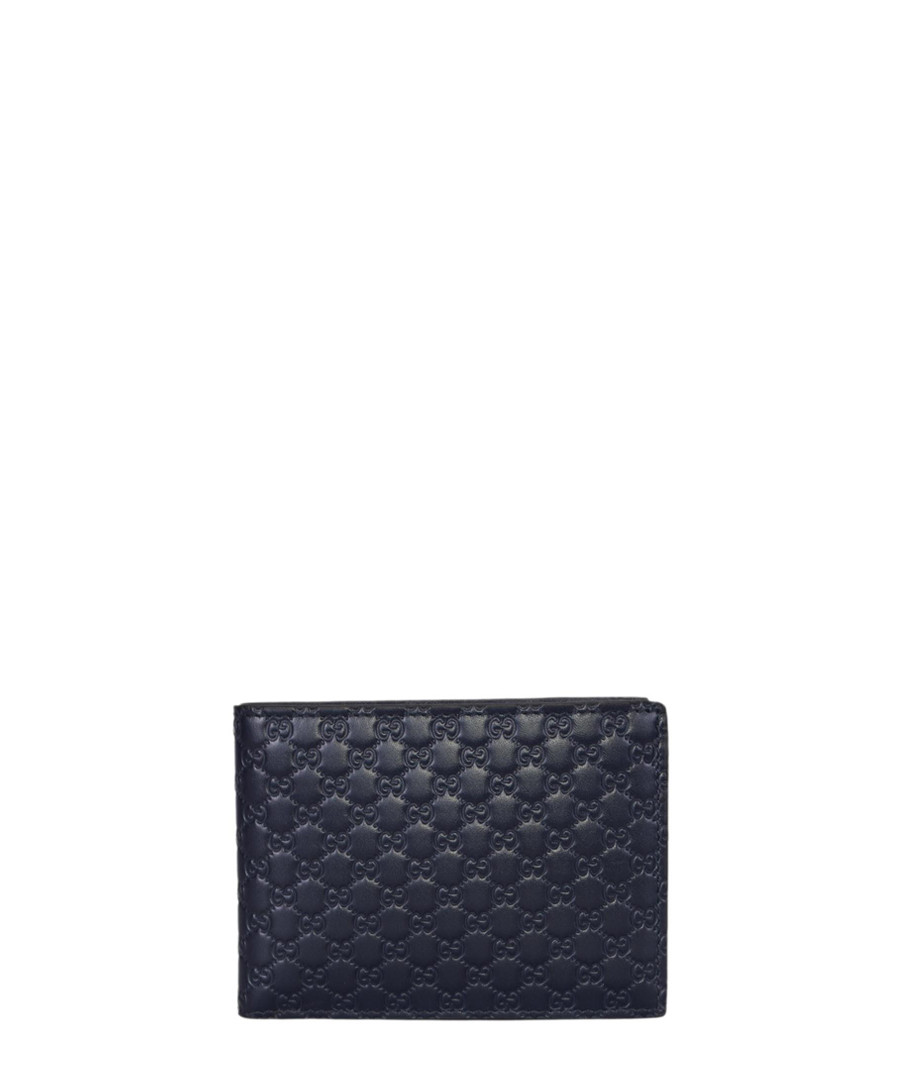 Guccissima blue leather embossed wallet Sale - gucci