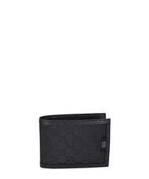 Black nylon monogram wallet