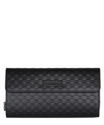 Guccissima black leather purse