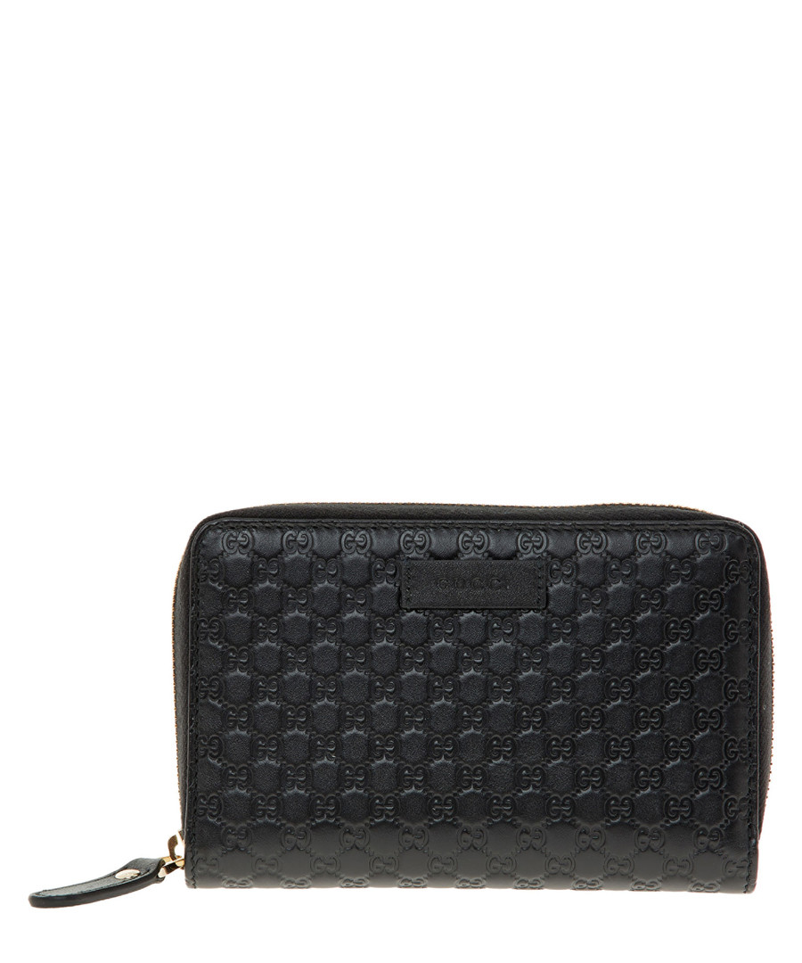Guccissima black leather zip purse Sale - gucci