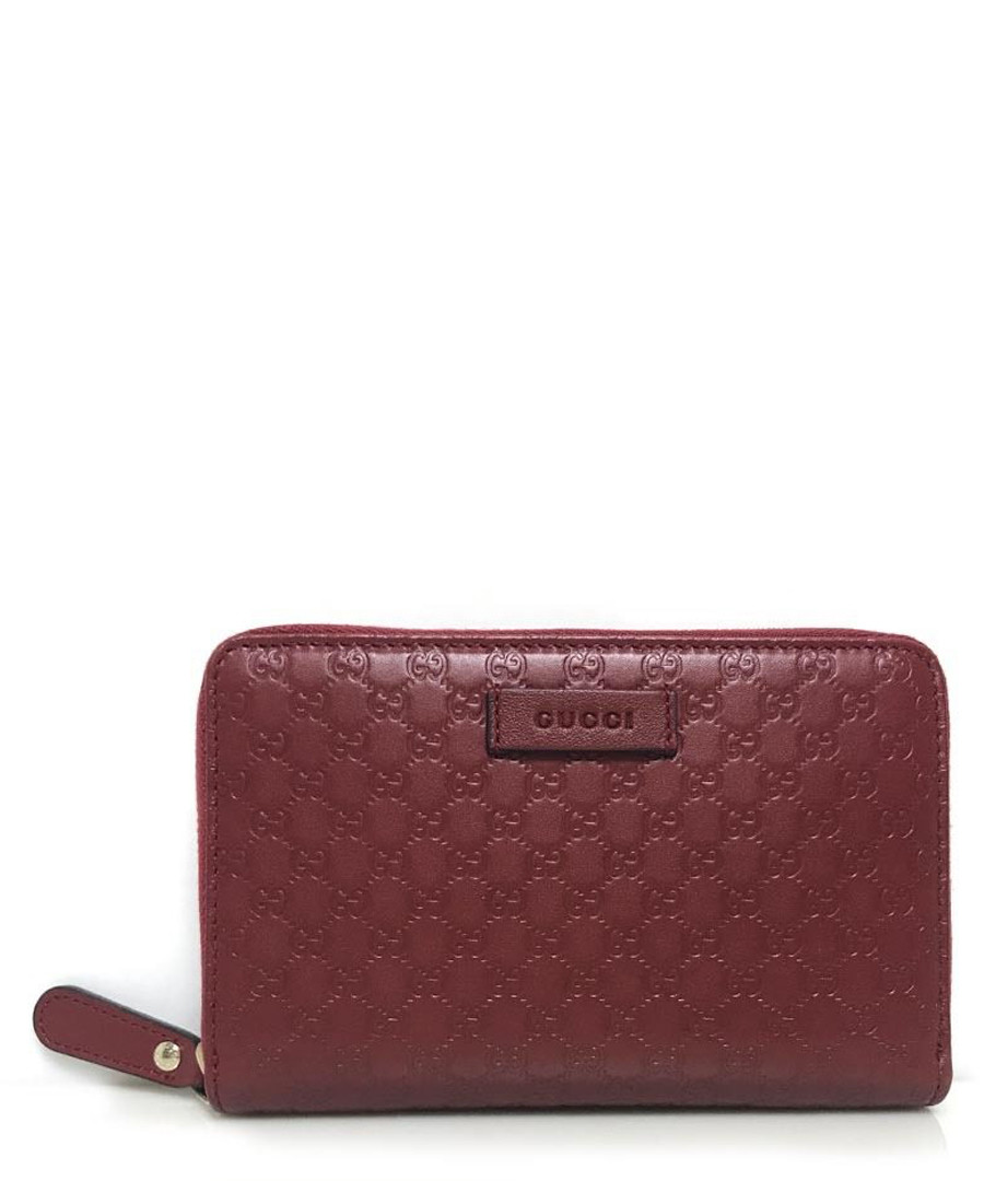 Guccissima wine leather zip wallet Sale - gucci
