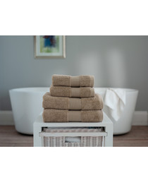 Cleopatra taupe pure cotton hand towel
