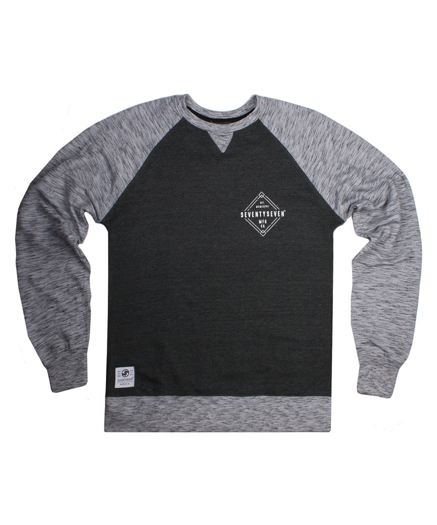 Focus grey cotton blend emblem jumper Sale - seventy seven