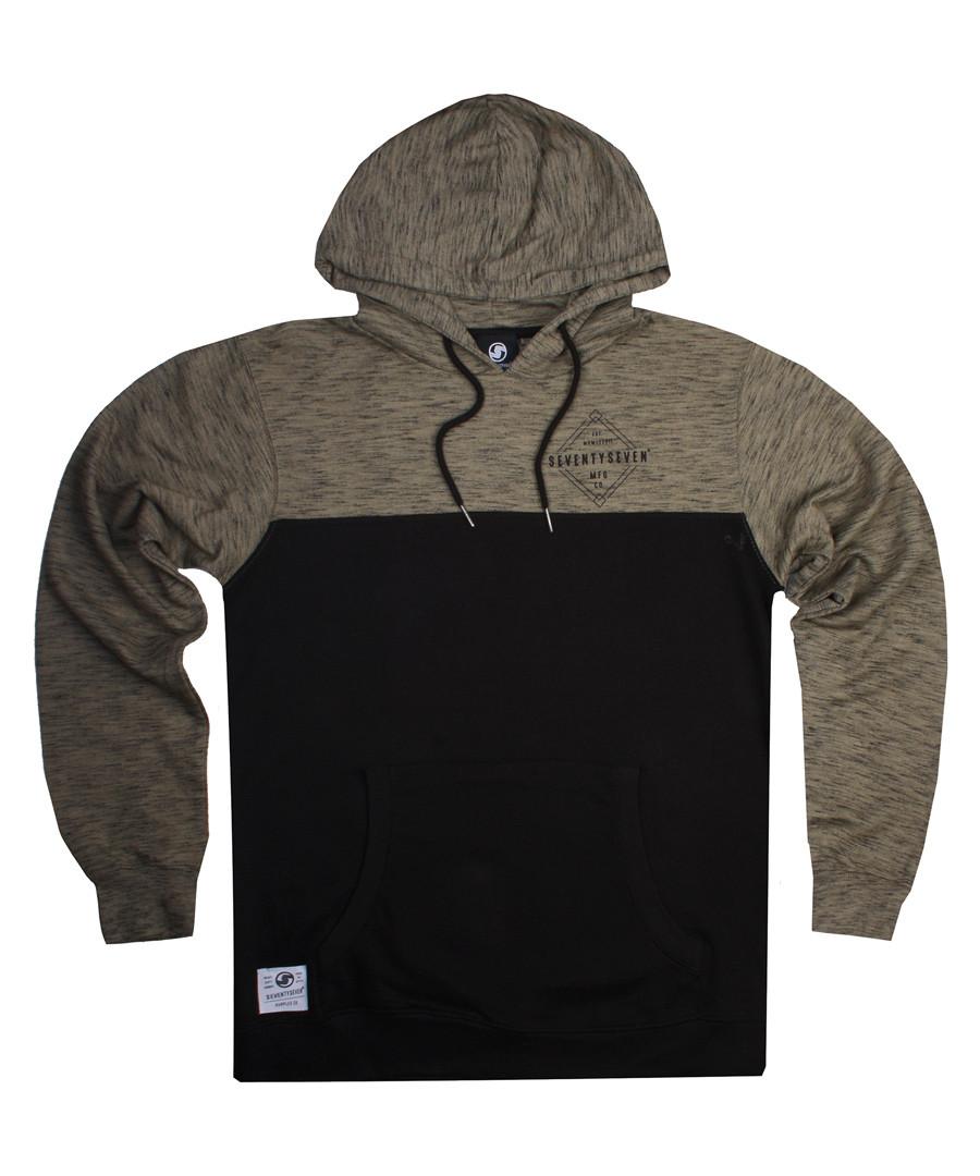 Focus taupe heather cotton blend hoodie Sale - seventy seven