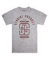Monogram grey heather cotton T-shirt Sale - seventy seven Sale