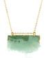 14k gold-plated lime quartz necklace Sale - fleur envy gaia Sale