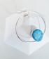 Rhodium-plated druzy stone necklace Sale - fleur envy Sale