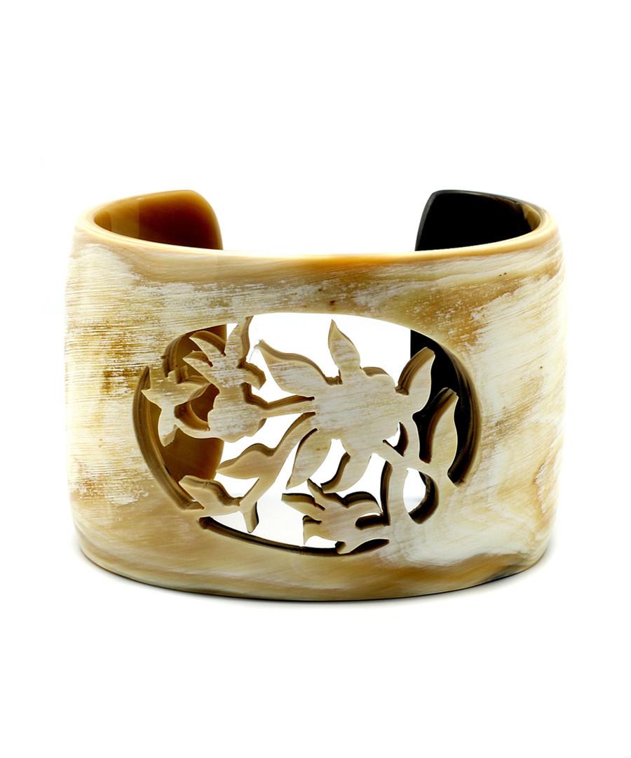 Prejudice buffalo horn cuff bracelet Sale - fleur envy gaia