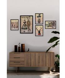 5pc Dandy framed prints