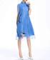 Sky blue sheer layer dress Sale - lanelle Sale