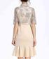 Beige cotton blend mini dress Sale - lanelle Sale