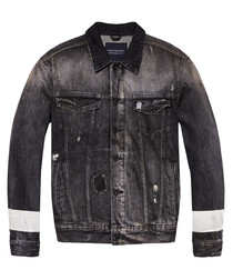 Blauw dark wash denim jacket