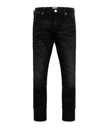 Lot 22 skinny black wash cotton slim jeans