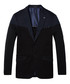 Navy cotton classic knitted blazer Sale - Scotch & Soda Sale