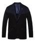 Navy cotton classic knitted blazer Sale - SCOTCH & SODA Sale