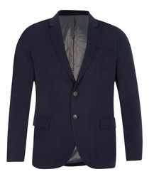 Night black pure nylon blazer