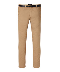 Tan cotton classic chinos
