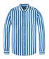 Blue & white band linen & cotton shirt Sale - scotch & soda Sale