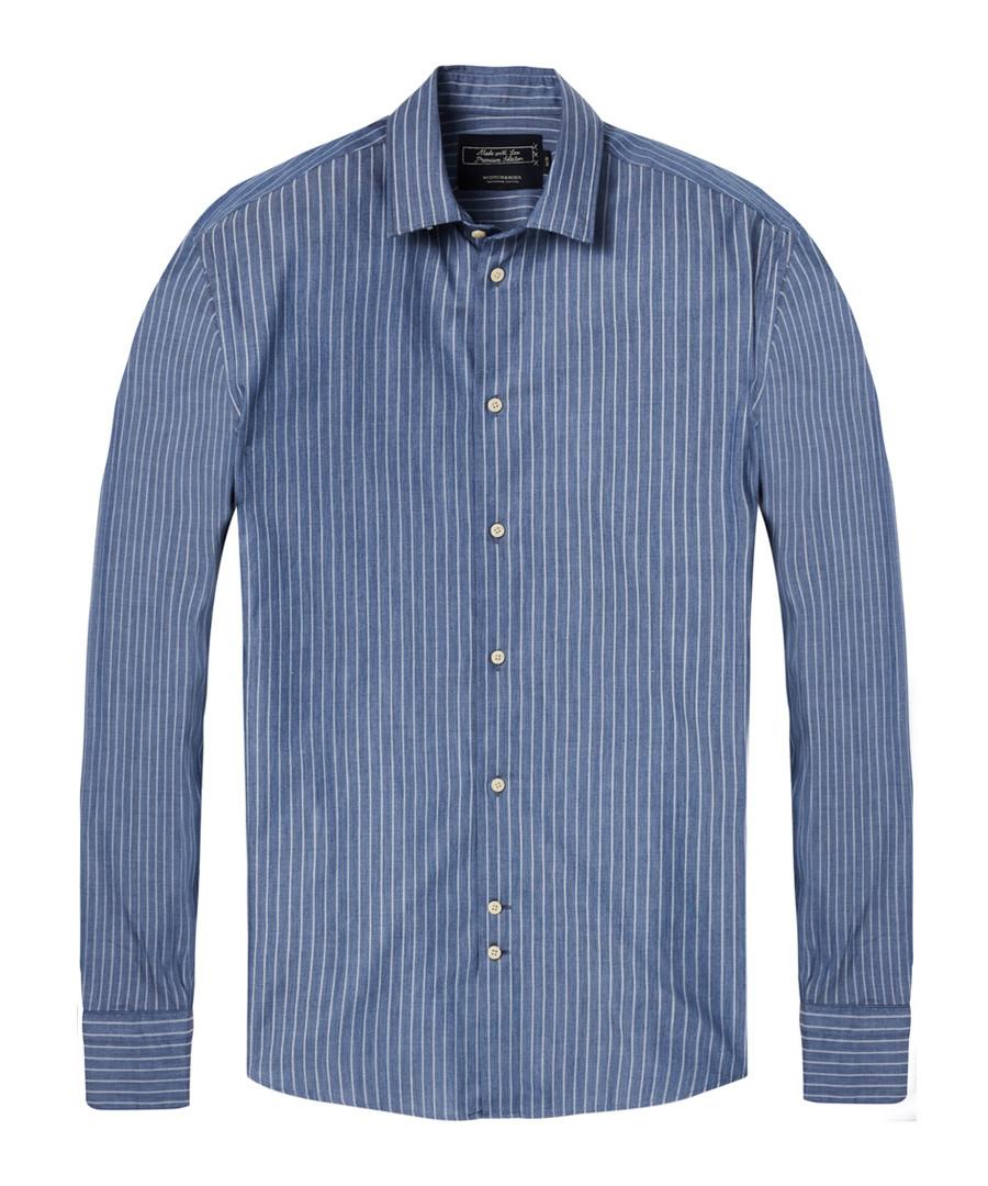 Navy stripe pure cotton shirt Sale - Scotch & Soda