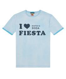 Sky blue cotton fiesta shirt