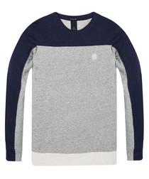 Grey pure cotton classic jumper