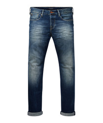 Ralston dark wash cotton slim jeans