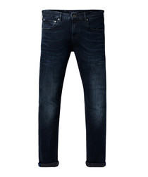 Skim dark wash cotton slim jeans