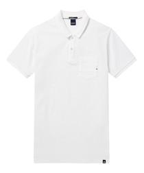 AMS Blauw white pure cotton polo shirt