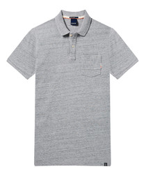 AMS Blauw grey pure cotton polo shirt