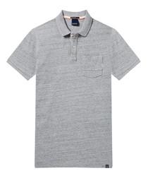 AMS Blauw grey pure cotton polo shirt