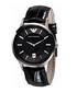 Black leather strap quartz watch Sale - Emporio Armani Sale