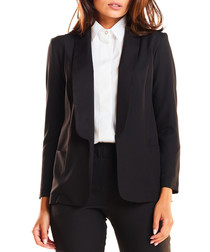 Black straight lapel jacket