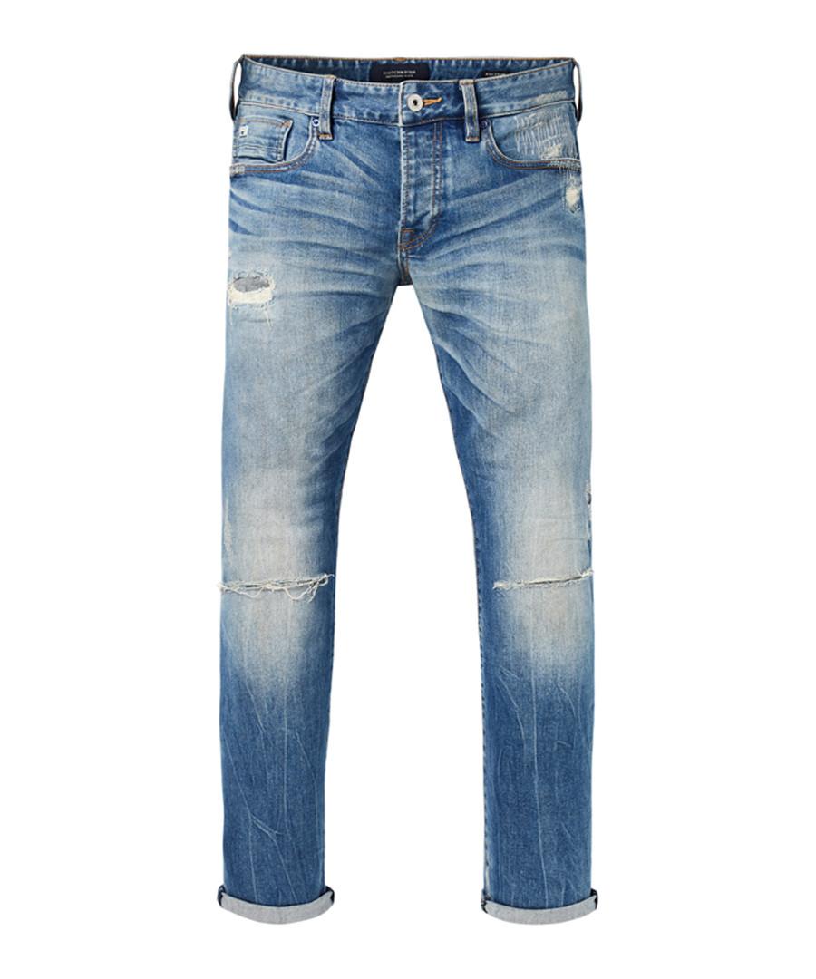 Ralston mid wash cotton repair slim jeans Sale - Scotch & Soda