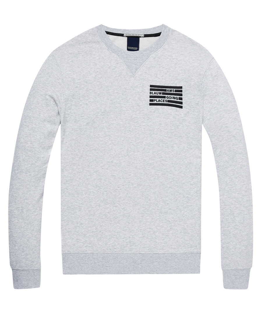 AMS Blauw grey cotton blend jumper Sale - Scotch & Soda