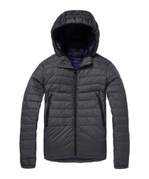 Graphite nylon blend padded jacket
