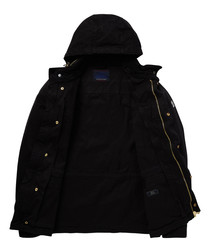Black cotton padded field coat