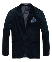 Midnight pure cotton corduroy blazer