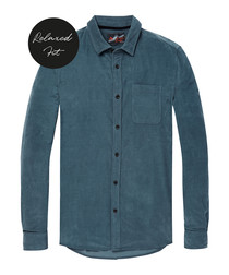 Teal pure cotton shirt