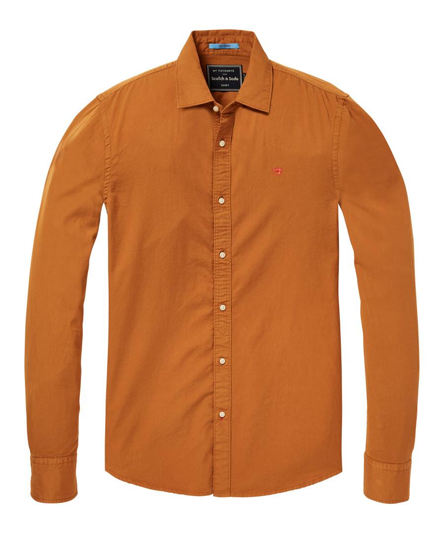 Burnt orange pure cotton shirt Sale - Scotch & Soda