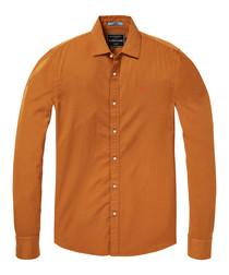 Burnt orange pure cotton shirt