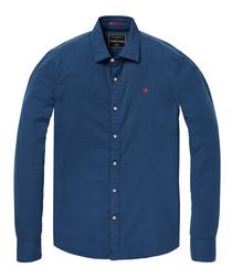 Navy pure cotton shirt