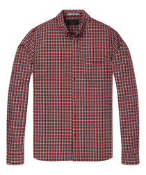 Red check pure cotton shirt