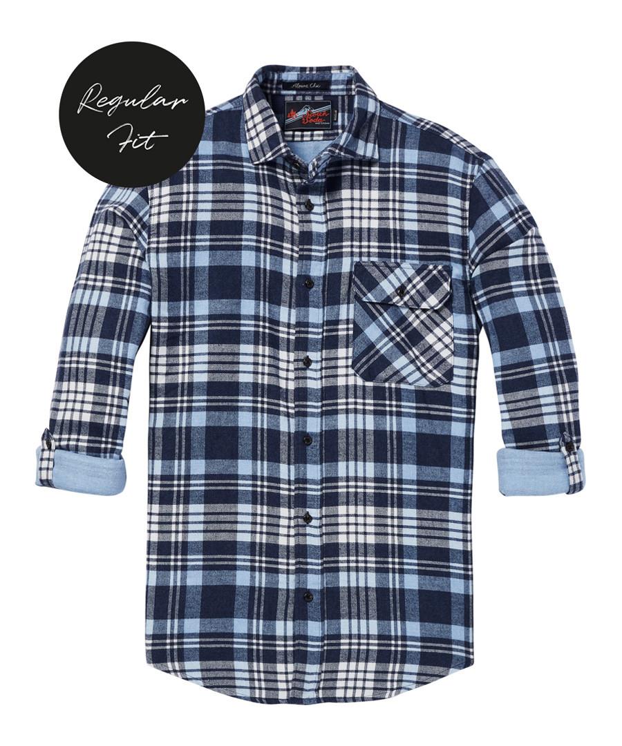Blue check pure cotton shirt Sale - Scotch & Soda